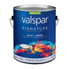 Valspar Signature Signature White Satin Latex Interior Paint and Primer In One (Actual Net Contents: 128-fl oz)