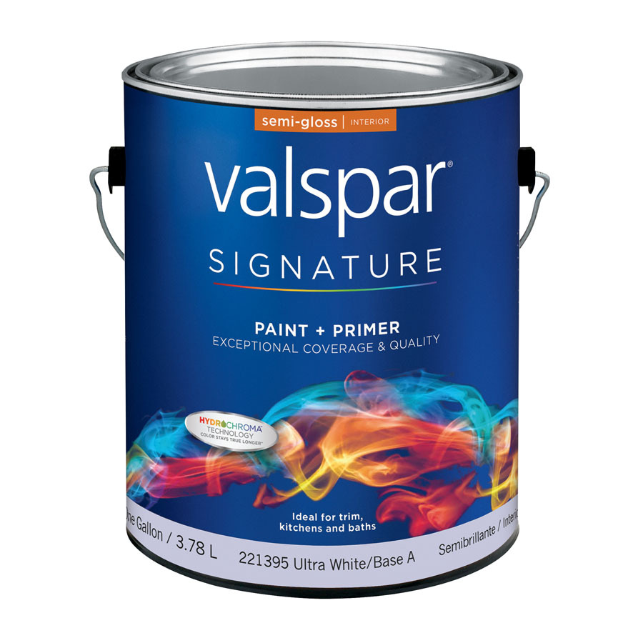 Shop Valspar Signature Signature Gallon Size Container Interior Semi Gloss Tintable White Latex