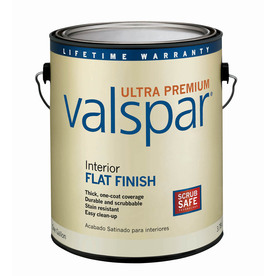 Valspar Ultra Premium 1-Gallon Interior Flat Black Latex-Base Paint