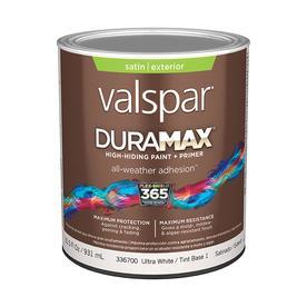 Shop Valspar Duramax Duramax Exterior Satin Tintable White Latex Base Paint And Primer In One