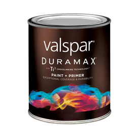 Valspar Duramax Duramax Quart Size Container Exterior Semi-Gloss Tintable Red Latex-Base Paint Paint and Primer In One (Actual Net Contents: 29 Fluid Oz.)