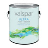 Valspar Ultra 128 fl oz Interior Flat Enamel White Paint and Primer in One