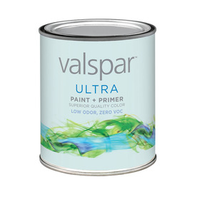 Valspar Quart Size Container Interior Flat Tintable Latex-Base Paint and Primer in One (Actual Net Contents: 30-fl oz)