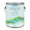 Valspar Ultra White Flat Latex Interior Paint and Primer In One (Actual Net Contents: 128-fl oz)