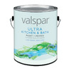 Valspar Ultra Gallon Interior Soft-Gloss Kitchen and Bath Tintable Base Paint and Primer in One