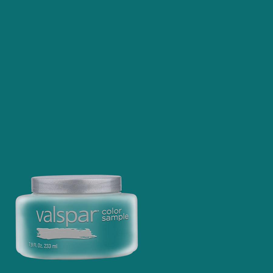 Shop Valspar 8 Oz Gypsy Teal Interior Satin Paint Sample At Lowes Com