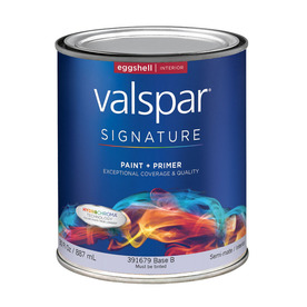 Valspar Signature Signature White Eggshell Latex Interior Paint and Primer in One (Actual Net Contents: 30-fl oz)