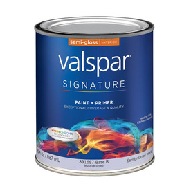 Valspar Signature Signature White Semi-Gloss Latex Interior Paint and Primer in One (Actual Net Contents: 30-fl oz)