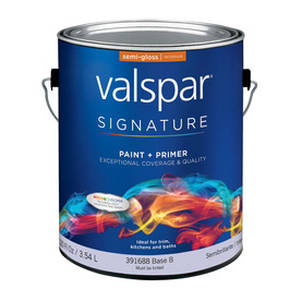 Valspar Signature Signature White Semi-Gloss Latex Interior Paint and Primer In One (Actual Net Contents: 120-fl oz)