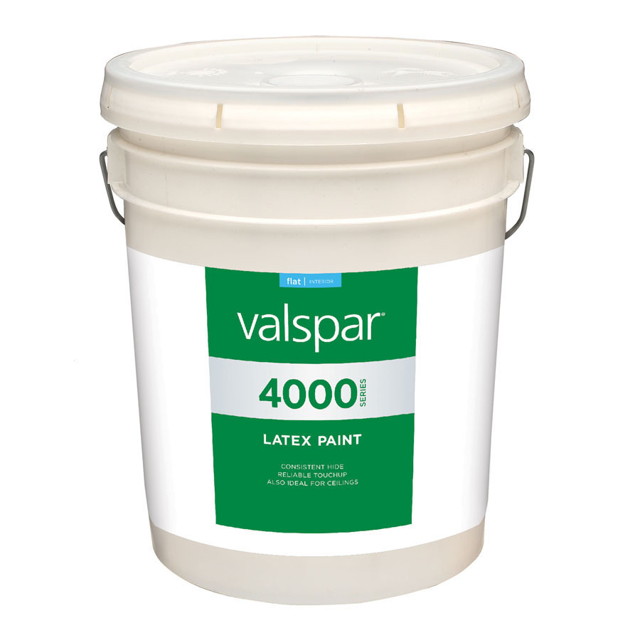 White Latex Paint : Shop valspar gallon size container interior flat antique