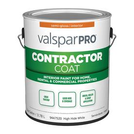 Valspar Ultra 4000 High Hide White Semi-Gloss Latex Interior Paint (Actual Net Contents: 128-fl oz)