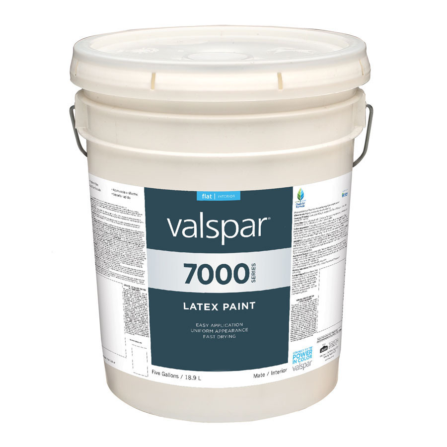Shop Valspar 5 Gallon Size Container Interior Flat Antique White Latex Base Paint Actual Net