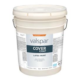 Shop Valspar 5 Gallon Size Container Exterior Semi Gloss Tintable White Latex Base Paint Actual