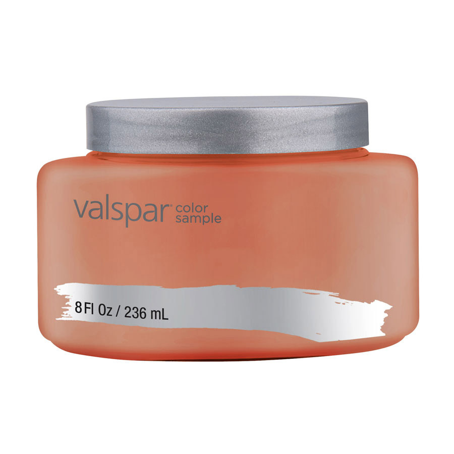 Shop valspar terra cotta red interior satin paint sample for Paint colors that go with terracotta