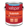 Valspar QuikHide Classic Antique White Flat Latex Interior Paint (Actual Net Contents: 128-fl oz)