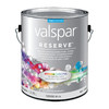 Valspar Reserve Gallon Size Container Interior Flat White Latex-Base Paint Paint and Primer In One (Actual Net Contents: 128 Fluid Oz.)