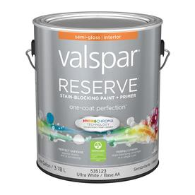 Valspar Reserve Ultra White/Base Aa Semi-Gloss Latex Interior Paint and Primer in One (Actual Net Contents: 128-fl oz)