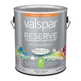 Valspar Reserve Base B Semi-Gloss Latex Interior Paint and Primer in One (Actual Net Contents: 120-fl oz)