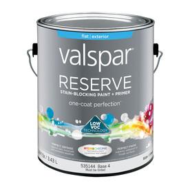 Valspar Ultra Reserve White Flat Latex Exterior Paint (Actual Net Contents: 116-fl oz)