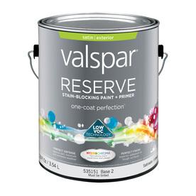 Shop Valspar Reserve Gallon Size Container Exterior Satin Tintable Multicolor Latex Base Paint