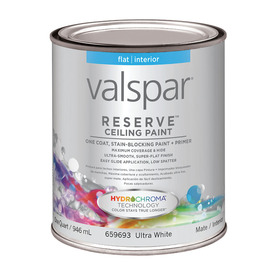 Shop Valspar Reserve Interior Flat Tintable White Latex Base Paint And Primer In One Actual Net