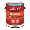 Valspar QuikHide White Flat Latex Interior Paint (Actual Net Contents: 124-fl oz)