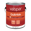 Valspar QuikHide White Eggshell Latex Interior Paint (Actual Net Contents: 124-fl oz)