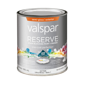Upc 042397608971 Valspar Reserve Exterior Semi Gloss Tintable White Latex Base Paint And