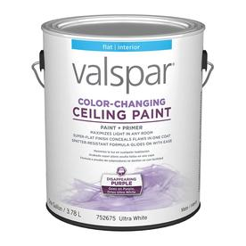shop valspar white flat latex interior paint and primer in one actual. Black Bedroom Furniture Sets. Home Design Ideas