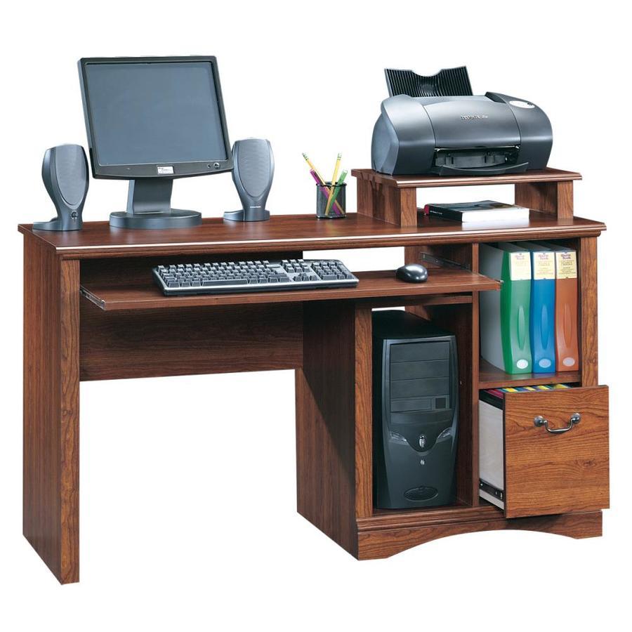 Shop Sauder Camden County Planked Cherry Computer Desk At