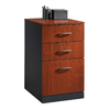 Sauder Via Classic Cherry/Soft Black 3-Drawer File Cabinet