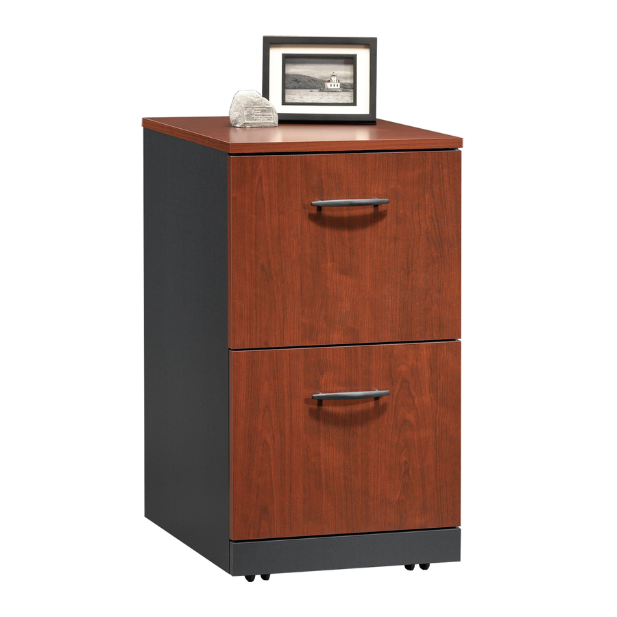 Via classic cherry soft black 2 drawer file cabinet at lowes com
