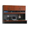Sauder Via Classic Cherry/Soft Black Credenza Desk
