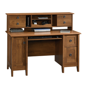 Shop Sauder August Hill Oiled Oak Computer Desk At Lowes Com