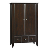 Sauder Shoal Creek Jamocha Wood Armoire