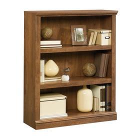 Sauder Oiled Oak 35.25-in W x 43.75-in H x 13.25-in D 3-Shelf Bookcase