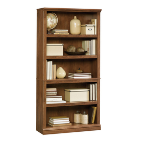 Sauder Oiled Oak 69.75-in 5-Shelf Bookcase