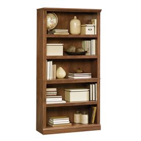 Sauder Oiled Oak 35.25-in W x 69.75-in H x 13.25-in D 5-Shelf Bookcase
