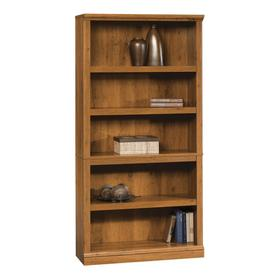 Sauder Abbey Oak 69.75-in 5-Shelf Bookcase