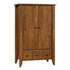 Sauder Shoal Creek Oiled Oak Armoire