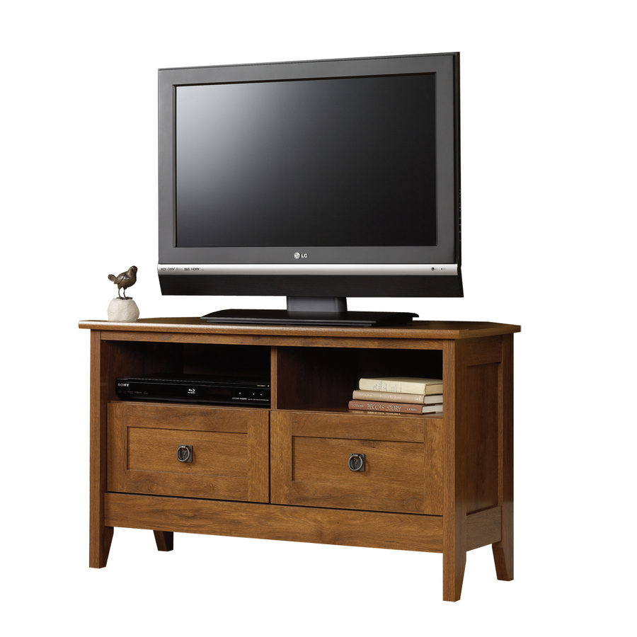 Shop Sauder August Hill Oiled Oak Television Stand at ...