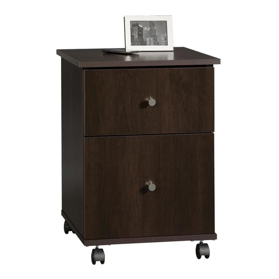 Shop sauder cinnamon cherry 2 drawer file cabinet at lowes com