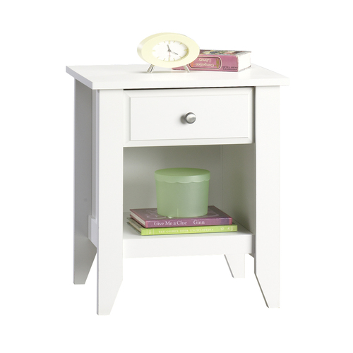 cheap sauder white jamocha wood nightstand from lowes