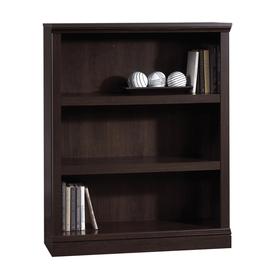 Sauder Cinnamon Cherry 35.375-in W x 44.125-in H x 13.5-in D 3-Shelf Bookcase