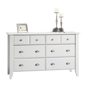 Sauder Shoal Creek Soft White 6-Drawer Dresser