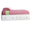 Sauder Shoal Creek Soft White Twin Bedframe with Storage