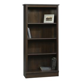 Sauder Cinnamon Cherry 59.75-in 4-Shelf Bookcase
