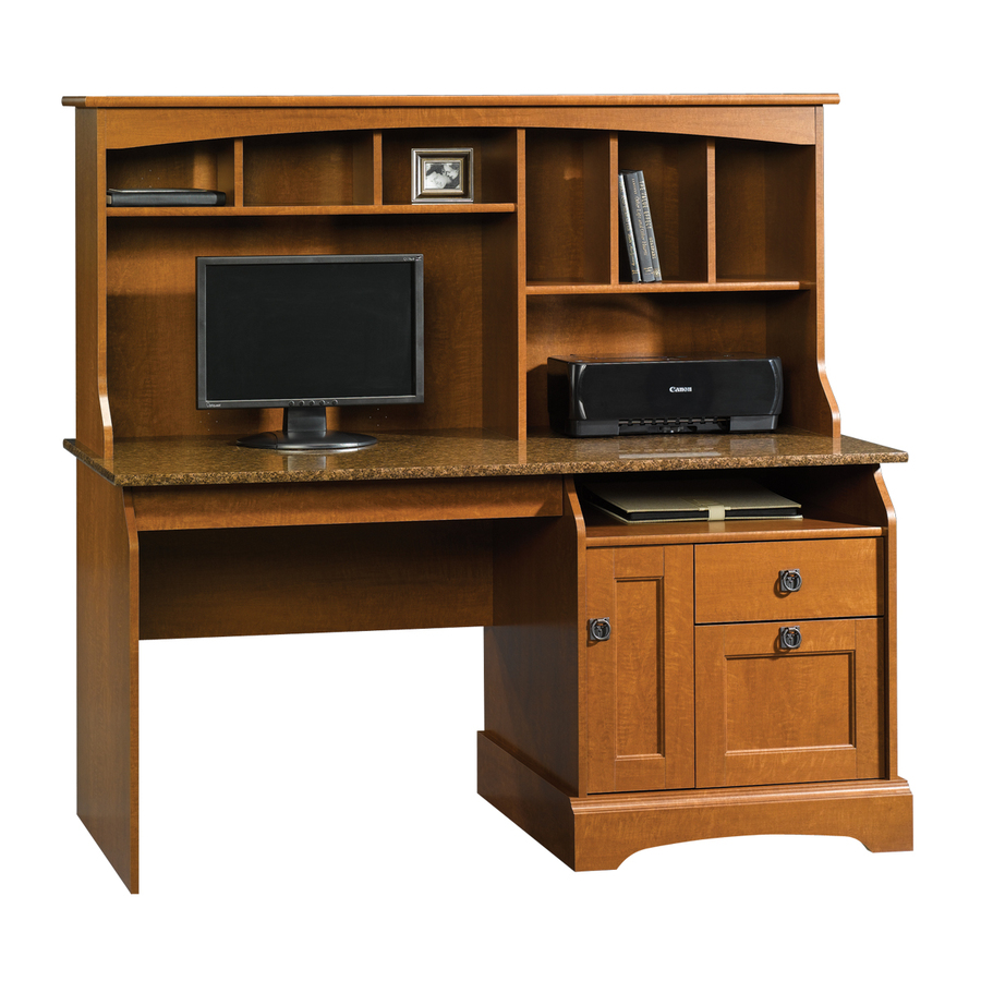 Shop Sauder Graham Hill Autumn Maple Computer Desk at Lowes.com