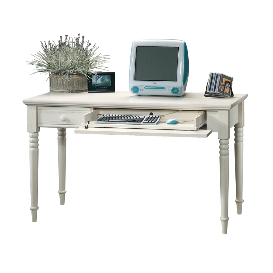 Shop Sauder Harbor View Antiqued White Writing Desk At