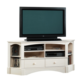 Sauder Harbor View Antiqued White Television Stand